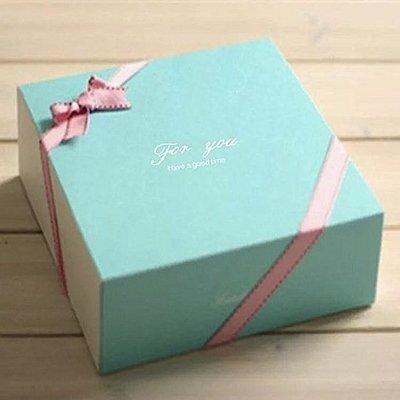 (含底托)For You湖水綠芝士蛋糕盒 乳酪 慕斯 戚風 起司 西點 餅乾 蛋塔 6吋 烘焙4吋 彌月 Tiffany