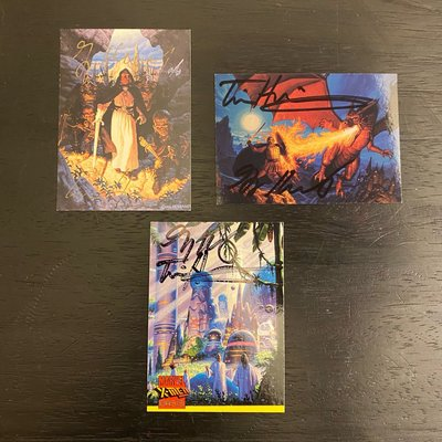 1994-1997 Brothers Hildebrandt(Greg & Tim Hildebrandt)親筆簽名 收藏卡 卡片 共3張 X-man
