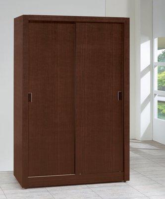 【南洋風休閒傢俱】精選時尚衣櫥 衣櫃 置物櫃 拉門櫃 造型櫃設計櫃-胡桃耐磨4*7尺木心板拉門衣櫃CY158-4722