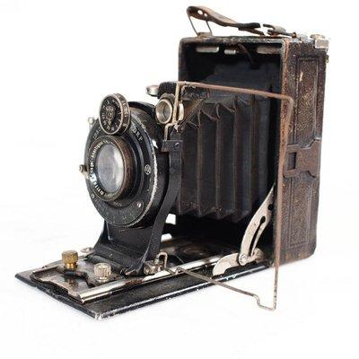 百寶軒 7品稀有珍藏德國上世紀三十年代Nagel老式皮腔相機折疊相機 ZG2408
