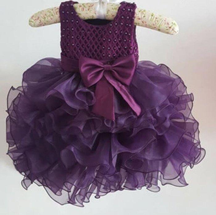 花童禮服 婚禮洋裝 女童連身裙 公主蓬蓬裙兒童禮服 婚紗兒童表演服 跳舞裙小BB裙 4色入—莎芭