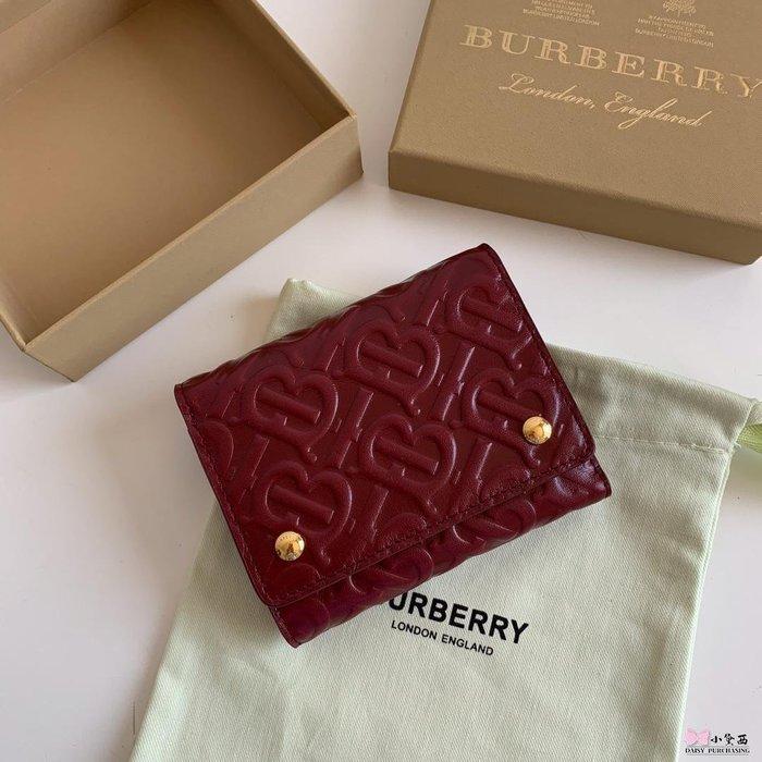 【小黛西歐美代購】Burberry 巴寶莉 2019款 壓花錢包 短夾 歐美時尚 美國outlet代購