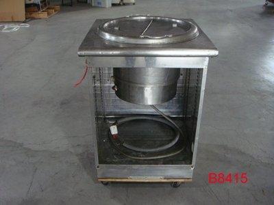 【全冠】二手 純厚白鐵 保溫湯爐 湯桶 湯架 湯鍋 湯爐 溫控保溫 保溫台 AC220V (B8415)