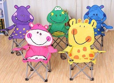 現貨 韓國 兒童扶手椅 超可愛動物摺疊椅 沙攤椅 長頸鹿 河馬 鱷魚