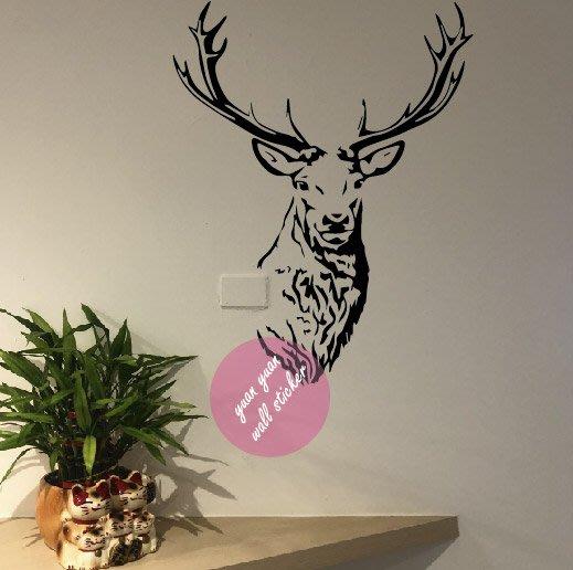 【源遠】復古-鹿【A-38】壁貼 樹 愛心 居家 幸福 浪漫 裝潢 設計 貼紙 施工 裝飾 美學