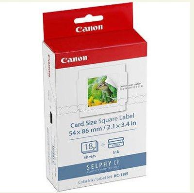 Canon KC-18IS 正方形貼紙 適用CP1300 系列印相機
