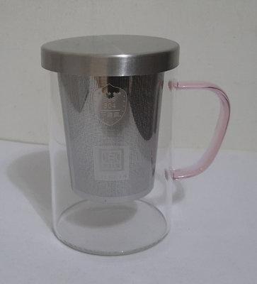 樂 LOVEIN 304不鏽鋼濾網耐熱玻璃泡茶杯/獨享泡茶杯(002C95-06)500ml