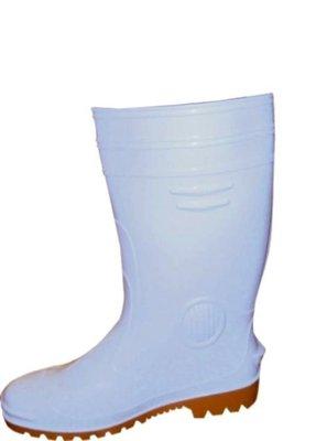 ☆°萊亞生活館~~工作鞋。台灣製高級雨鞋【A192白色膠鞋-男生款】有內裡