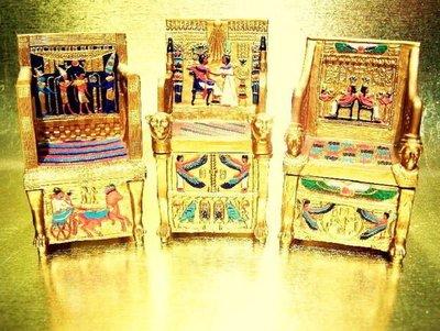 [ Vero 設計作品 手工彩繪-寶座 模型 珠寶盒 ]-3款選擇 法老/后妃/祭司-Egypt埃及.