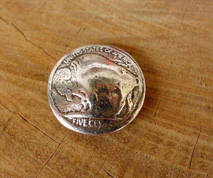 老約翰 皮革材料 高級合金 純銀電鍍 內徑23MM 裝飾扣 固定扣