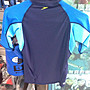 台灣潛水---SPEEDO 短袖上半身防曬衣/水母衣 (男)藍