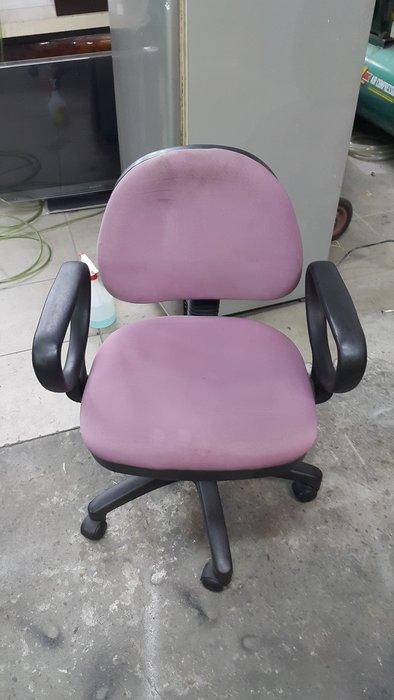 樂居二手家具 全新中古家具賣場 CF0405DJJ1 粉紅布面辦公椅*OA椅 電腦椅 書桌椅 洽談椅 二手辦公家具買賣