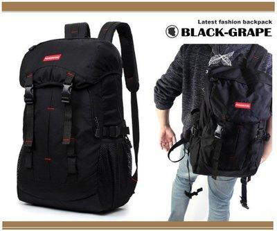韓版-帽蓋街頭-腰身雙扣後背包 / 筆電包【B1381】黑葡萄包包