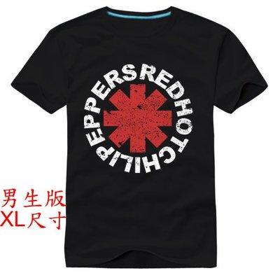 【Red Hot Chili Peppers 嗆辣紅椒】【男版XL尺寸】短袖搖滾樂團T恤(現貨供應 下標後可以立即出貨)