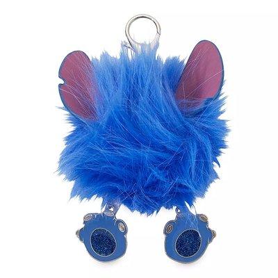 【美國大街】正品.美國迪士尼史迪奇絨毛鑰匙圈史迪奇鑰匙圈史迪奇毛球鑰匙圈 含扣環12.7cm