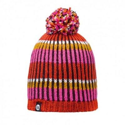 【登山屋】【BUFF】BFL110990-522-10 暖紅橫紋毛球 POLAR 針織帽