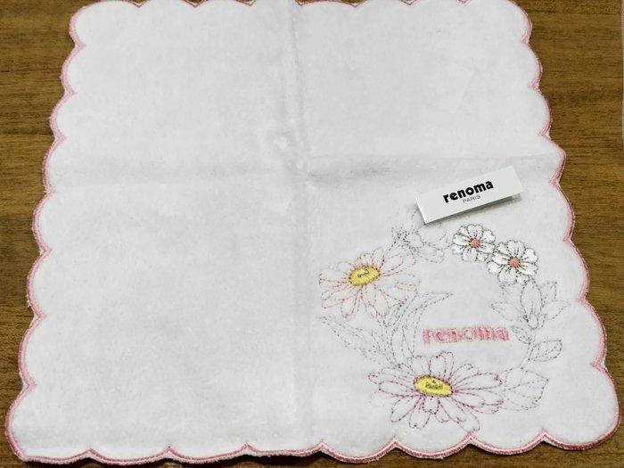法國RENOMA 粉色小方巾