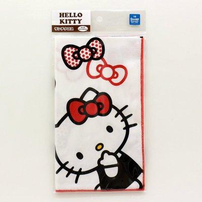 尼德斯Nydus 日本正版 Sanrio 三麗鷗 Kitty 凱蒂貓 方巾 桌巾 午餐巾 43x43 cm