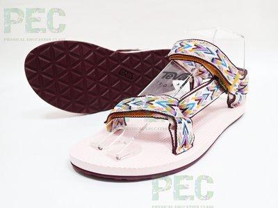 體育課 TeVa 1012897PINK 戶外休閒 女碼 原創系列涼鞋Original 設計師聯名款 Emily Hoy