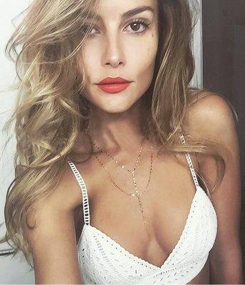 《巴黎拜金女》性感Y字型雙層亮片項鍊鎖骨頸鍊脖頸飾品