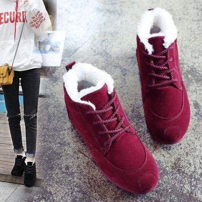 短靴棉鞋女冬季保暖加絨刷毛新品全館正韓雪地靴女短筒靴冬鞋平底短靴女鞋XBD