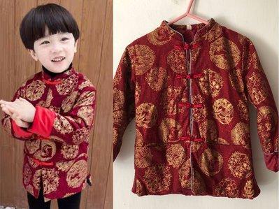 全新 韓國款 紅色唐裝上衣外套 新年裝 角色扮演衫 舒適舒服 服裝 小童 BB 嬰兒c