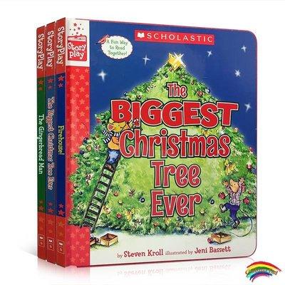 英文原版繪本 A Storyplay Book 戲劇故事3冊盒裝The Gingerbread Man Firehouse! The Biggest Chris