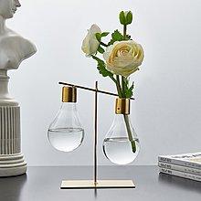 〖洋碼頭〗ins北歐風格創意鐵藝玻璃水培花瓶擺件裝飾品桌面房間個性小擺設 fjs565