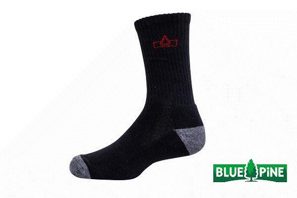 (登山屋) BLUE PINE COOLMAX厚登山襪 型號:B61721 黑