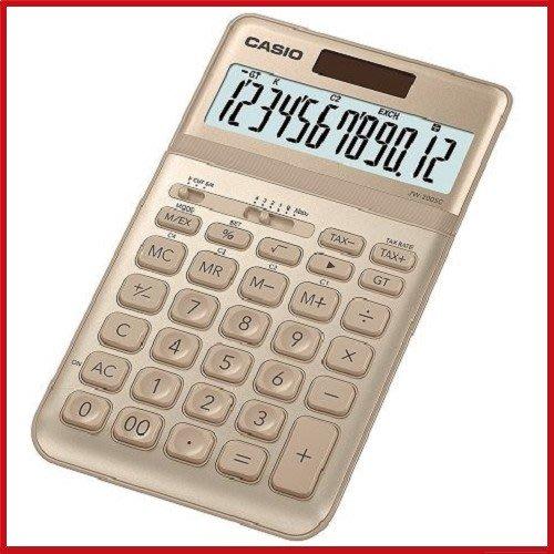 (現貨) CASIO12位元璀璨晶耀桌上型計算機JW-200SC-GD 尊爵金【KO01020】JC雜貨