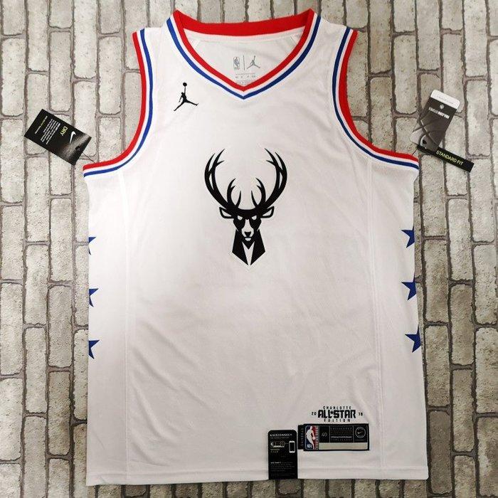 NBA2019全明星賽球衣 公鹿隊 揚尼斯·安戴托昆波 Antetokounmpo 白色