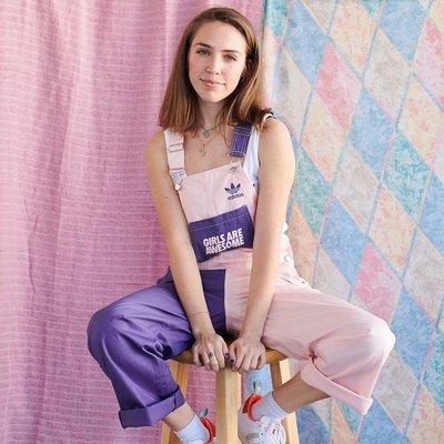 Adidas originals x Girls Are Awesome dungarees 粉紫 吊帶褲 gK4877