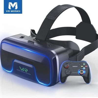 VR眼鏡手機專用3d虛擬現實rv眼睛蘋果4d頭戴式游戲機∨r一體機