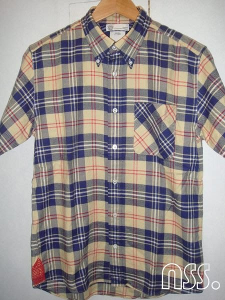 特價【NSS】VISVIM 12 V+V SASHIKO CHECK GIZA 格紋 短袖 襯衫 S