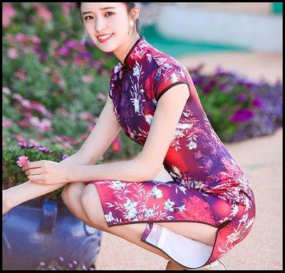 ~妖精的衣見鐘情~改良中國風旗袍連衣裙短款 春夏新款修身復古顯瘦優雅日常