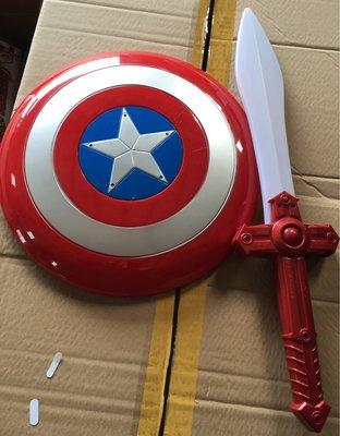 小猴子玩具鋪~角色扮演~復仇者聯盟 Marvel英雄 美國隊長 音樂 燈光 盾牌 光劍 (聲光)~售價:230元/款