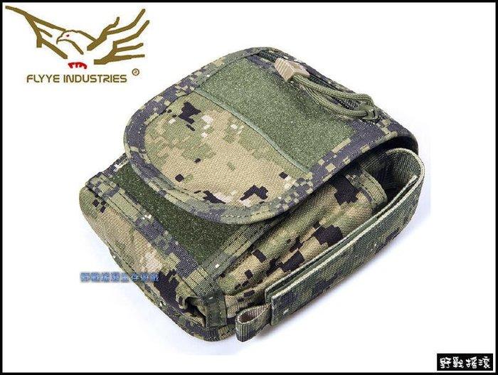 【野戰搖滾-生存遊戲】Flyye 中型勤務腰包、戰術腰包【AOR2】數位叢林迷彩手機腰包工具腰包雜物包手機包