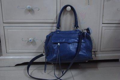 RABEANCO 美國時尚精品 小羊皮寶藍色 斜背/手提包