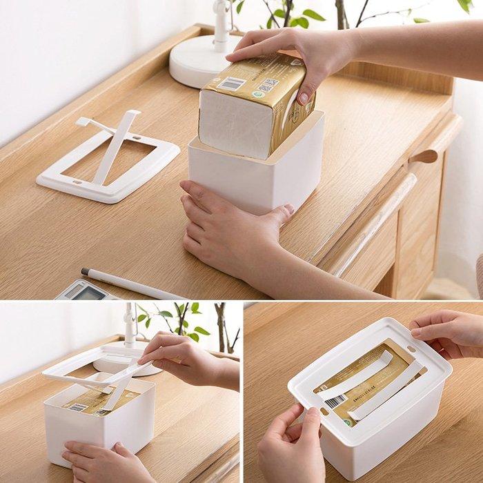 【可可里百貨】可升降紙巾盒客廳茶幾抽紙盒 家用桌面餐巾紙盒紙巾收納盒【買一送一】