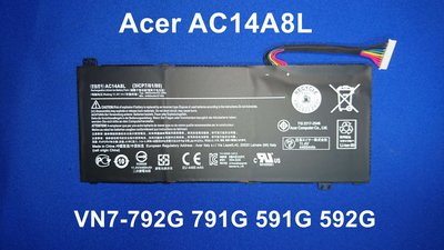 ☆TIGER☆ACER AC14A8L VN7-792G VN7-791G VN7-591G 592G 原廠電池 台中市