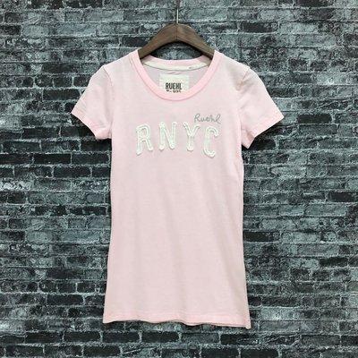 Maple麋鹿小舖 Abercrombie&Fitch *RUEHL No.925 粉色貼布電繡短T* ( 現貨S號 ) 高雄市