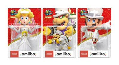 全新 Nintendo Switch Amiibo Wedding Mario Peach Koopa  (Super Mario Series)