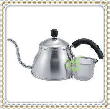 303生活雜貨館 日本製  Fino OFF-127咖啡沖水壺1L-附濾網