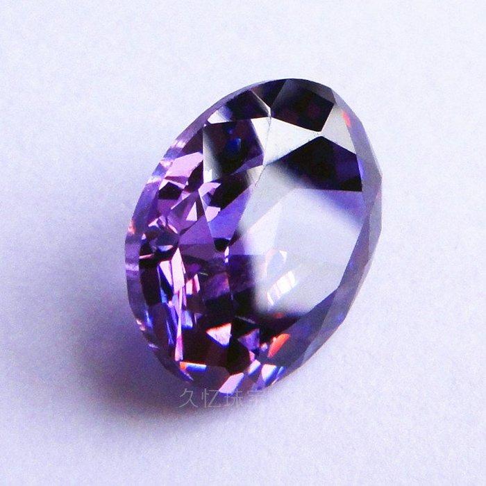 Lissom韓國代購~蛋形紫鋯石幸運紫裸鋯石橢圓形特色水鉆裸石歐美立方氧化鋯石