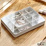 【IDEA】13+6格首飾收納盒 彩妝盒 化妝盒 置物盒 口紅架 收納架【YL-029】