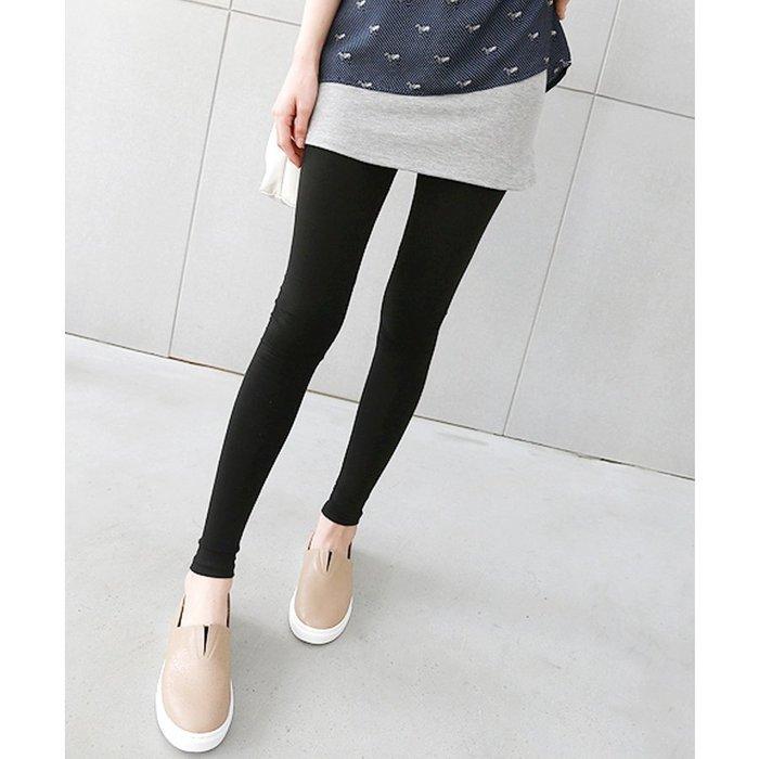 【Hao Da】全館399免運↘「M~XL。現貨」撞色假兩件 短裙內搭褲 (P1132)