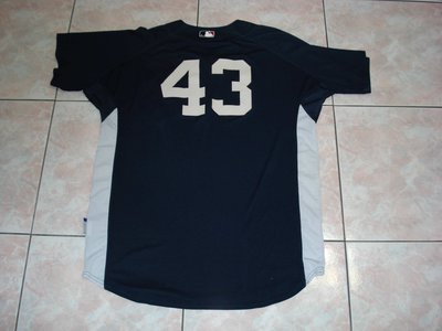 MLB 2007 NY YANKEES #43 PROCTOR GAME USED BP JERSEY SIZE:48