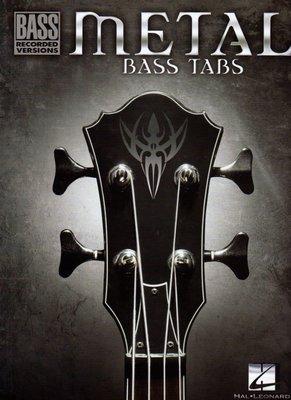 [ 反拍樂器 ] 進口書籍 METAL BASS TABS 樂譜 (免運費)