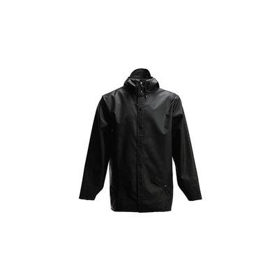 Freaky House-丹麥品牌Rains Jacket Black 防水防風短版連帽雨衣夾克外套-黑