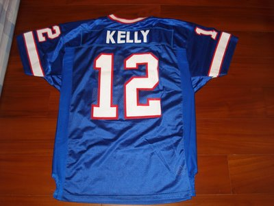 NFL BILLS #12 JIM KELLY AUTHENTIC WILSON JERSEY SIZE:48